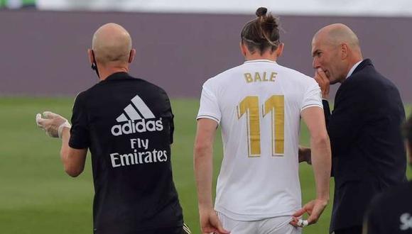 Zinedine Zidane explicó la ausencia de Gareth Bale en el Real Madrid vs. Manchester City. (Foto: EFE)