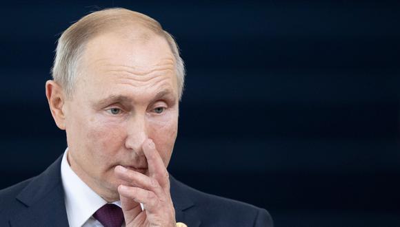 Vladimir Putin, presidente de Rusia. AFP