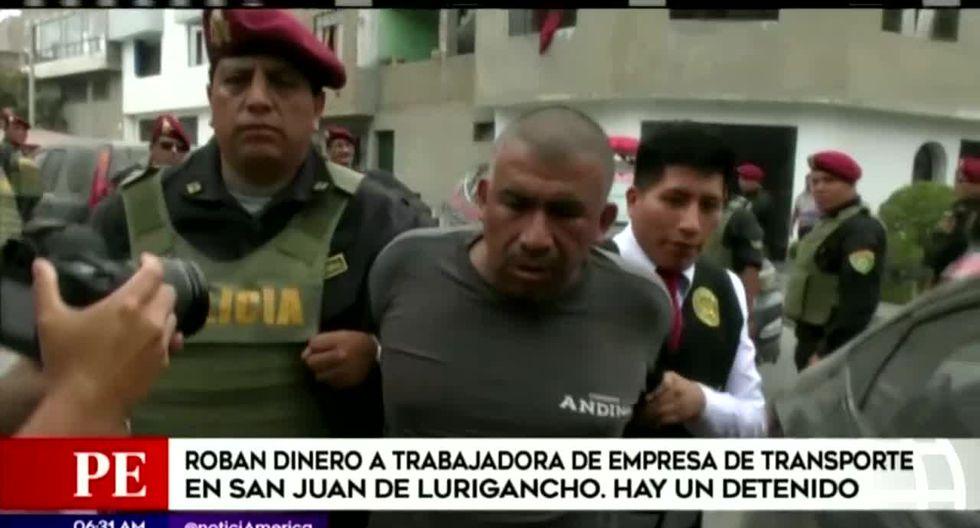Percy Abel Cano Gonzales, quien estaría implicado en el asalto a la pareja, fue detenido por la policía. (Foto captura: América Noticias)
