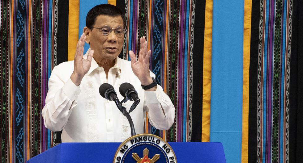Imagen del presidente filipino Rodrigo Duterte. (Noel CELIS / AFP).