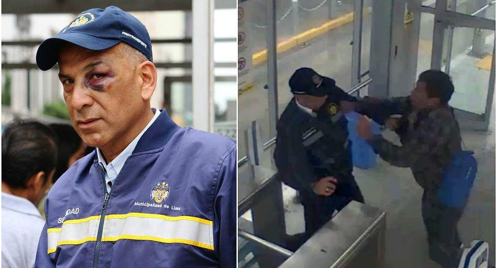 Metropolitano: agente es agredido por hombre en estado de ebriedad (VIDEO)