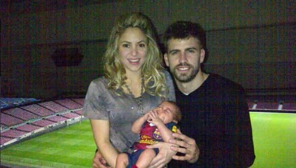 Shakira y Piqué comparten su primera foto familiar