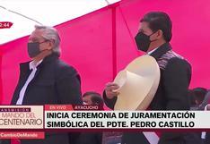 Ayacucho: soprano interpretó el Himno Nacional en quechua durante la ceremonia de juramentación simbólica del presidente Pedro Castillo