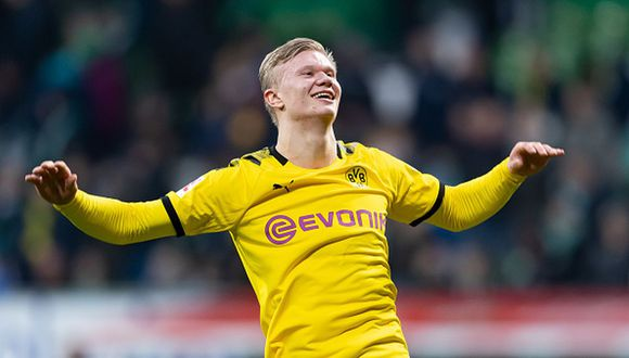 Erling Haaland lleva recién media temporada en Borussia Dortmund. (Foto: Getty Images)