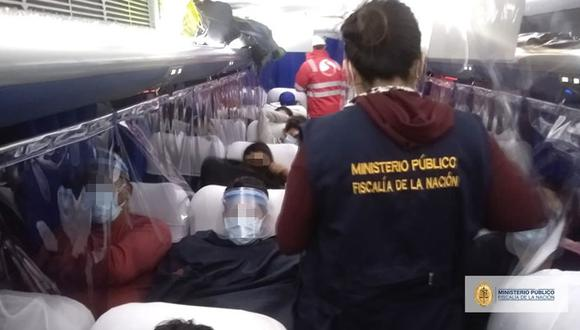 El ómnibus fue intervenido en el límite de los distritos de Comas, Los Olivos y Puente Piedra. (Foto: MP)