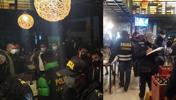 Los policías impusieron las papeletas respectivas por incumplir las medidas sanitarias. (Foto: Feliciano Gutiérrez)