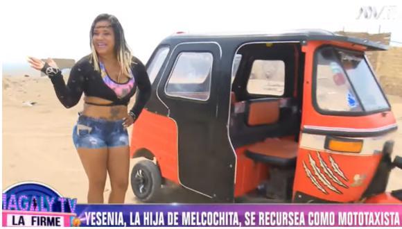 La joven que también sueña con ser actriz cómica, al igual que su padre, mostró cómo se gana la vida a diario en Cañete. (Foto: ATV)