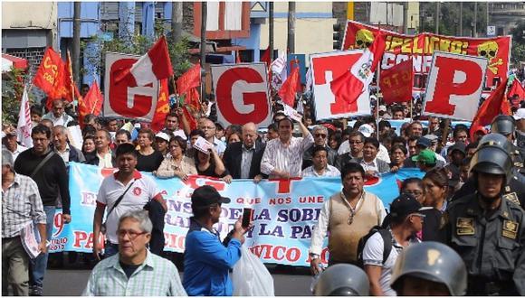 Huelga de maestros: Conozca la ruta de la movilización de la CGTP y otros sindicatos