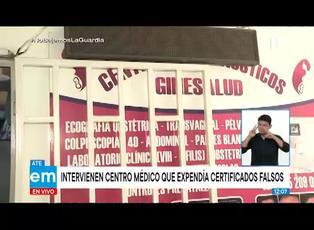 Intervienen centro médico que expedía certificados falsos en Ate Vitarte