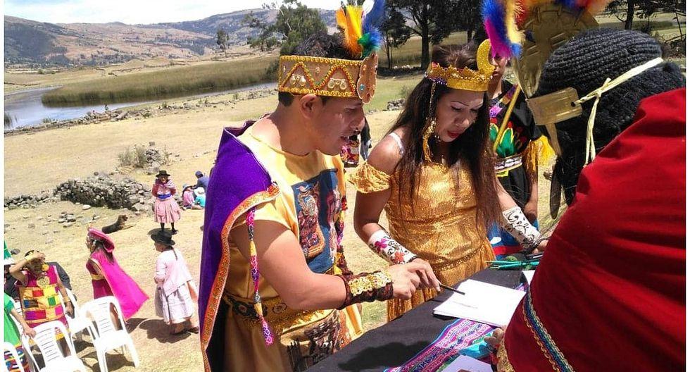 Pareja se casa al estilo Inca en complejo arqueológico Intihuatana (VIDEO)