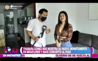"""Thamara Gomez muestra su departamento en Miraflores: """"Tantos años trabajando"""" (VIDEO)"""