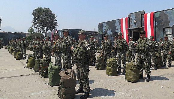 Soldados del Ejército listos para comicios