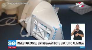 Científicos peruanos desarrollan mascarilla 3D reutilizable