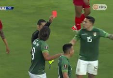 Perú vs. Bolivia: Henry Vaca salió expulsado por una falta contra Alexander Callens (VIDEO)