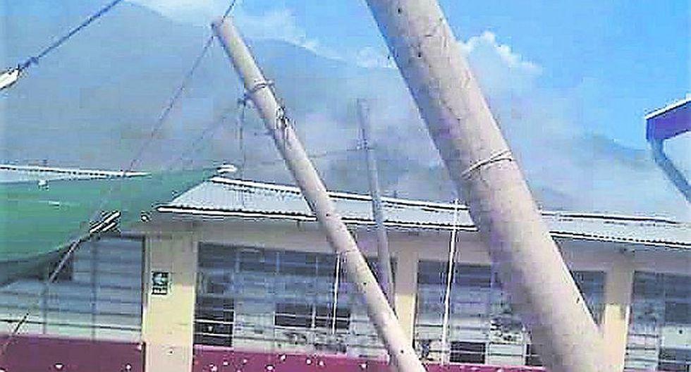 Lluvias causan daños en colegio de Cabanaconde