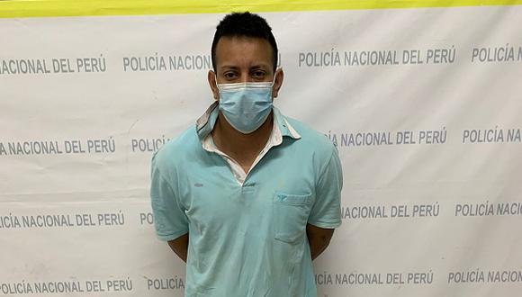 Policías realizan un operativo en Garbanzal y arrestan a Richard Aponte Benites.