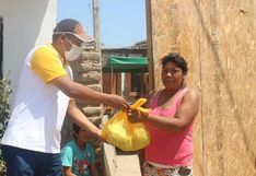 Ica: entregan víveres a familias necesitadas afectadas por estado de emergencia