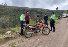 Tres comisarías participan en plan cerco y recuperan moto robada