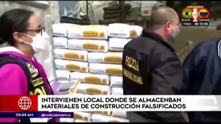 Policía interviene local donde almacenaban materiales de construcción adulterados