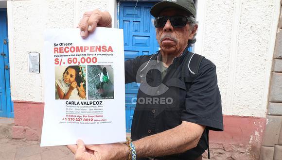 Padre de turista desaparecida en Cusco ofrece 60 mil soles como recompensa