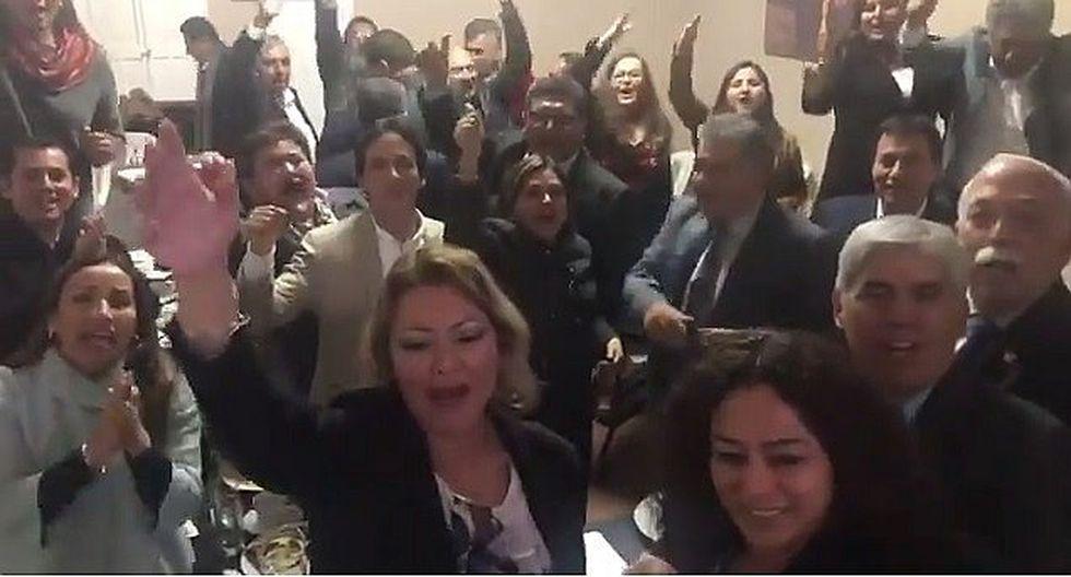 Bancada de Fuerza Popular muestra estar más unida (VIDEO)
