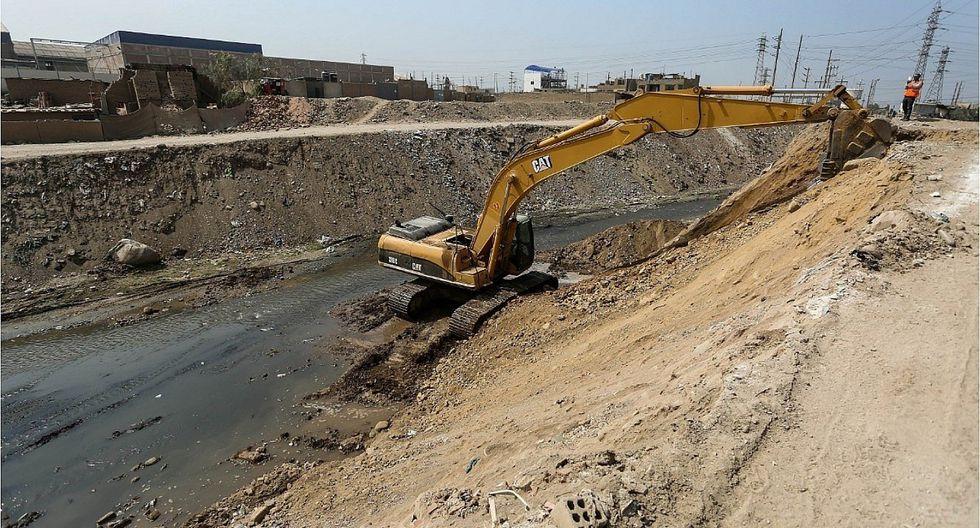 Limpieza y descolmatación del río Huaycoloro tiene un avance del 80%