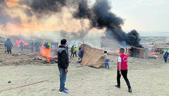 Casas rústicas y corralones donde no había ningún tipo de vivencia fueron incineradas.