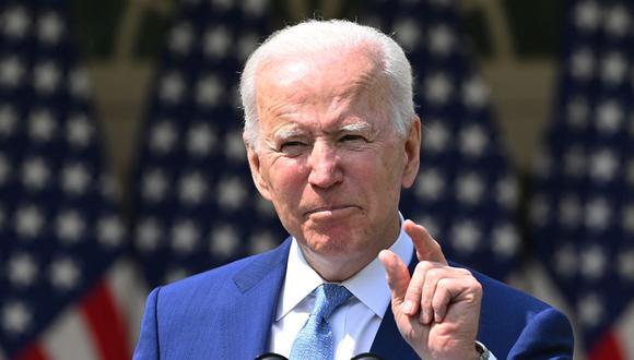 """Joe Biden aseguró que la retirada de tropas que se realizará antes del 11 de septiembre no se articulará de forma """"apresurada"""". (Brendan SMIALOWSKI / AFP)."""