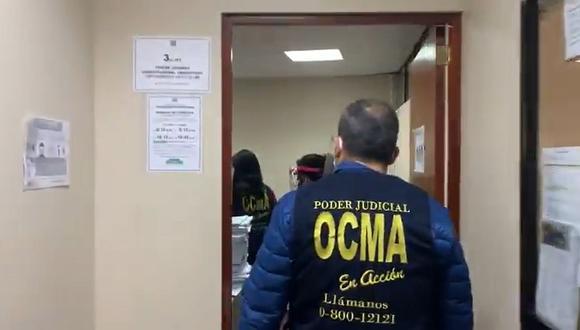 Personal de la OCMA visitó el despacho de la jueza que ordenó suspender la elección del TC. (Poder Judicial)