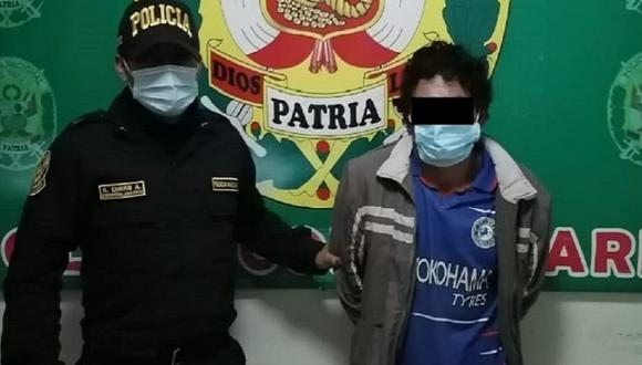Áncash: Tras una intensa búsqueda, un equipo de la Policía Nacional capturó a Rojas Hidalgo, quien fue hallado en estado etílico. (Foto: PNP)