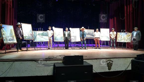 Artistas arequipeños ganaron concurso de pintura rápida en acuarela