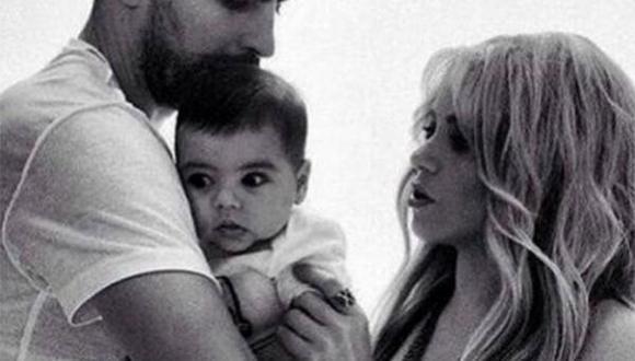 Shakira y Piqué comparten foto familiar con Milan