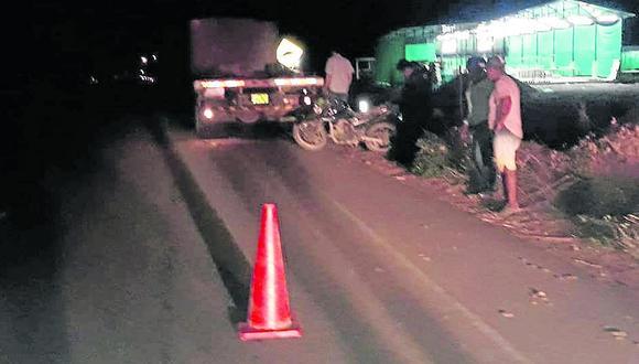 Un joven electricista muere tras impactar contra camión estacionado