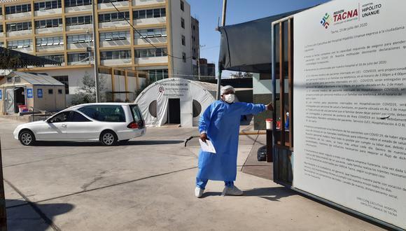 Cifra de fallecidos se duplicó en segundo mes del 2021 en los hospitales de Tacna