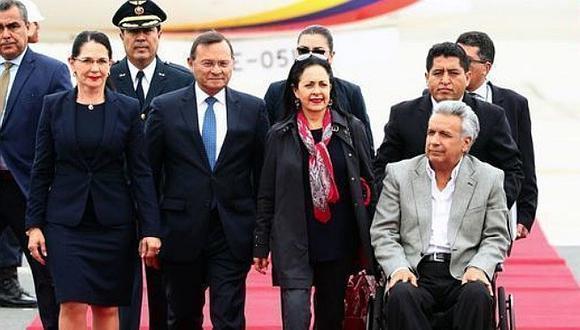 Lenín Moreno llegó a Lima para Cumbre Presidencial Andina