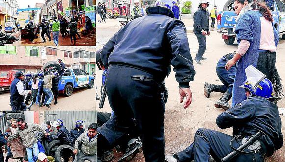 Comerciantes respondieron con golpes a policías municipales en operativo
