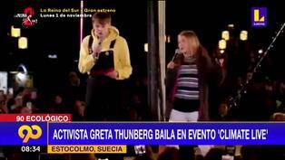 "La activista Greta Thunberg sorprendió bailando y cantando ""Never gonna give you up"" en evento climático"
