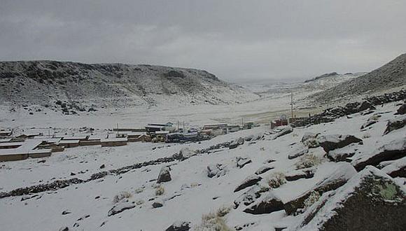 Lluvias e intensas nevadas azotan partes altas de Apurímac