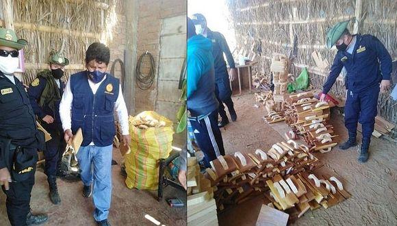 Sullana: Intervienen una vivienda donde procesaban producto forestal ilegal