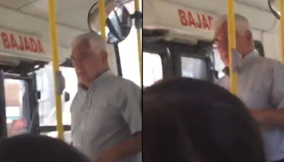 Anciano acosa sexualmente a joven en un bus