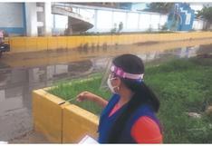 Vierten aguas residuales y deshechos en colegio que será local de votación en Tumbes