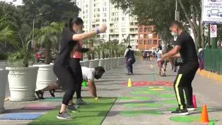 Coronavirus: Campo de Marte se convierte en gimnasio al aire libre
