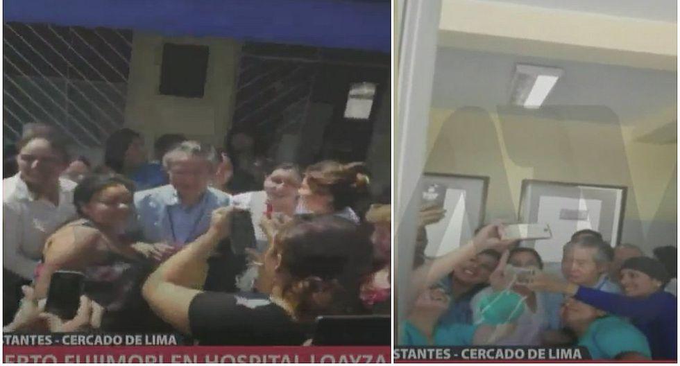 Alberto Fujimori acude al Hospital Loayza y causa furor entre trabajadores (VIDEO)