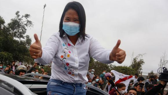 Keiko Fujimori lidera voto extranjero al 24% de las actas procesadas. Foto: AFP / Gian MASKO