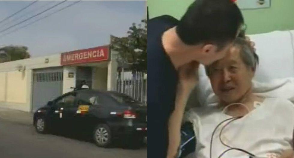 Alberto Fujimori salió de alta tras presentar mejorías en la clínica de Pueblo Libre (VIDEO)