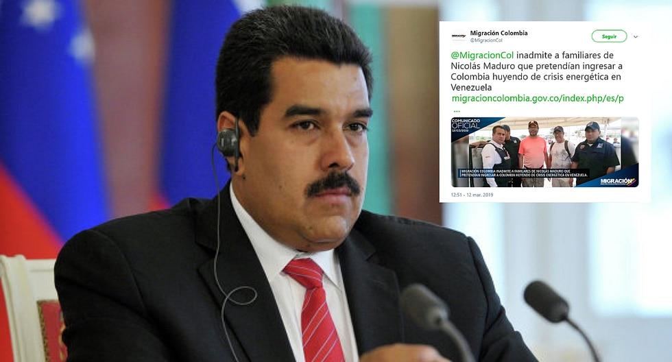 Colombia impidió el ingreso de familiares de Nicolás Maduro que huían del apagón