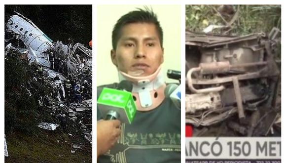 Uno de los protagonistas de ambos accidentes brindando declaraciones. Collage: Correo / GEC/El País