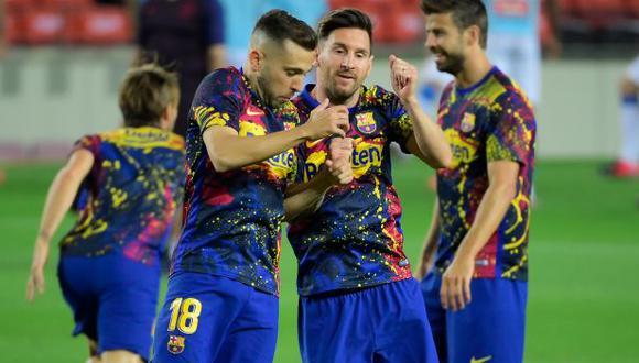 Barcelona recuperó a Jordi Alba y podrá estar en el clásico ante Real Madrid. (Foto: AFP)