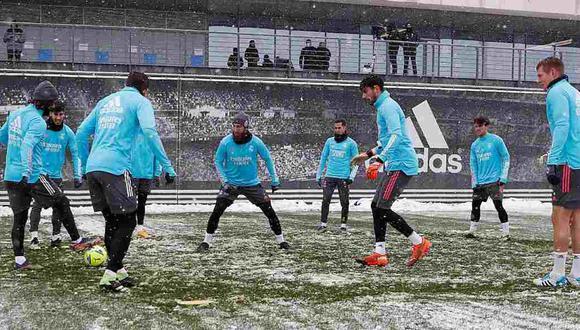 Real Madrid y Osasuna a la espera de una posible suspensión del partido por LaLiga. (Foto: Real Madrid)