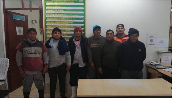 Detienen a 7 pescadores acusados de atentar contra el medio ambiente